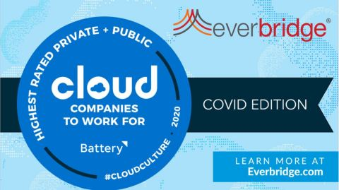 Everbridge Named Top Three Highest-Rated Public Cloud Company to Work For During COVID-19 (Graphic: Business Wire)