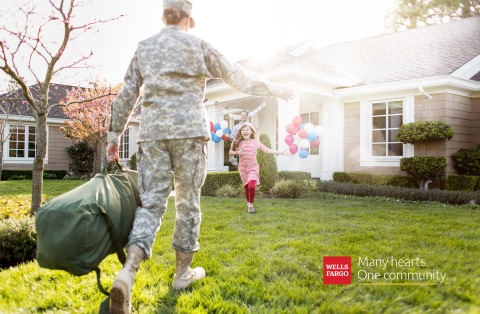 "As part of Wells Fargo's ""Many hearts. One community."" campaign, Wells Fargo will work with the American Red Cross and the Armed Forces program to unite military families this holiday season. (Photo: Wells Fargo)"