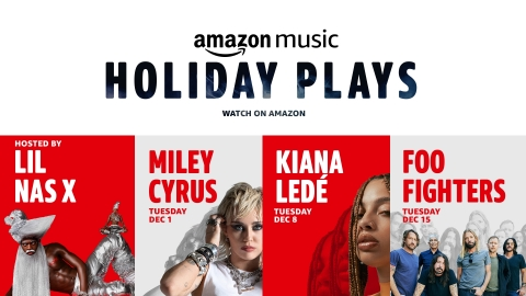 Amazon Music Holiday Plays (Graphic: Business Wire)