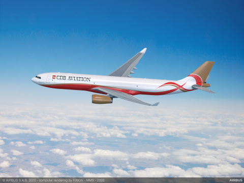 CDB Aviation is bringing the next generation Airbus A330 P2F freighter to the market with 23% more cargo volume than older freighters aircraft types, which will be available for lease to airline customers beginning in early 2022. (Photo: Business Wire)