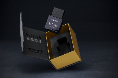 A new premium packaging experience unveils the coveted cologne, which boasts MANSCAPED's signature scent crafted to inspire confidence and refinement. (Photo: Business Wire)