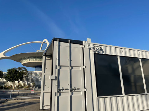 SG Blocks Delivers D-Tec 2 Testing Pods to LAX Airport to Begin Installation for COVID-19 Testing (Photo: Business Wire)