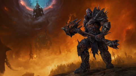 Bolvar Fordragon stands beneath a shattered sky in World of Warcraft: Shadowlands. (Graphic: Business Wire)