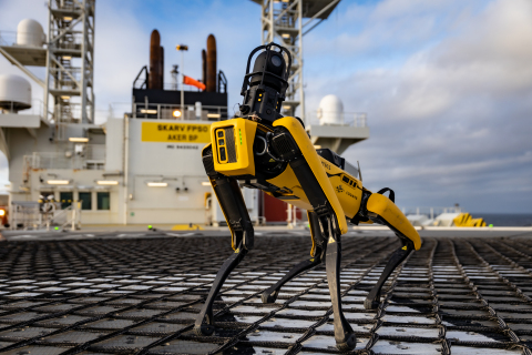 Cognite Data Fusion powers Spot, the Boston Dynamics quadruped robot dog, as it completes autonomous mission onboard Aker BP Skarv installation in the North Sea (Photo: Business Wire)