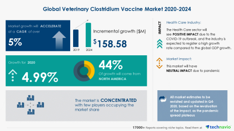 Technavio has announced its latest market research report titled Global Veterinary Clostridium Vaccine Market 2020-2024 (Graphic: Business Wire)