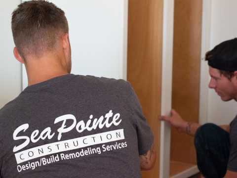 SeaPointe Construction Team Installing Cabinets (Photo: Business Wire)