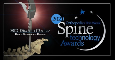 SurGenTec's 3D GraftRasp™ Awarded Best Spine Technology for 2020 (Photo: Business Wire)