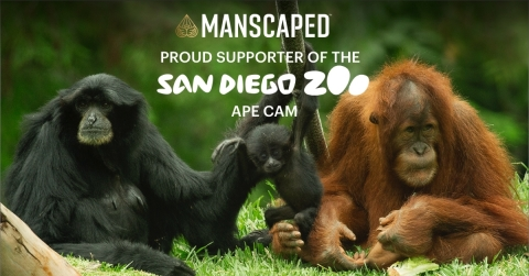 As a proud partner of the San Diego Zoo, MANSCAPED supports the enriching experiences program which provides the wildlife with increased opportunities to thrive every day! (Graphic: Business Wire)