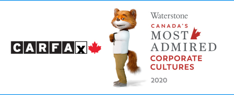 CARFAX is thrilled to have been named one of Canada's Most Admired Corporate Cultures™. The award, presented by Waterstone Human Capital, recognizes best-in-class Canadian organizations for having exceptional cultures that drive performance and sustain a competitive advantage. (Photo: Business Wire)