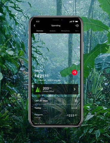 Mogo's new Rainforest Mode aims to help users be more mindful of their spending. (Photo: Business Wire)