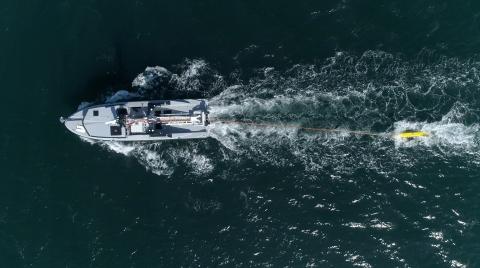 MMCM system at sea ©Thales