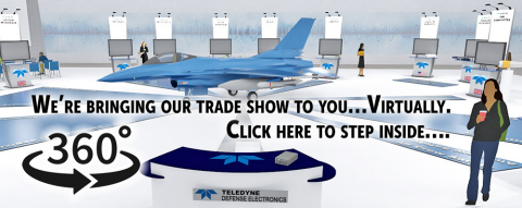 The Welcome Desk of the new Virtual Trade Show from Teledyne Defense Electronics. (Photo: Business Wire)
