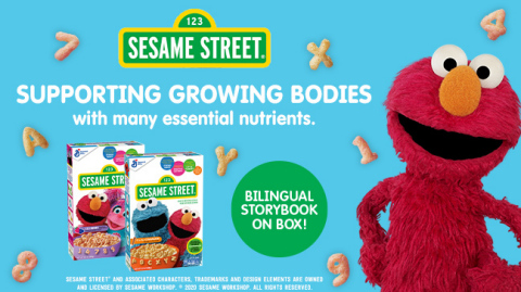 General Mills launches Sesame Street Cereal which will begin to appear on store shelves in January and supports growing bodies with many essential nutrients and engages curious young minds with activities and stories on every box. (Photo: Business Wire)