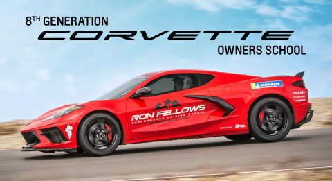 XPEL paint protection film will be used on 8th generation Corvettes like the one pictured, which are used at the Ron Fellows Performance Driving School. (Photo: Business Wire)