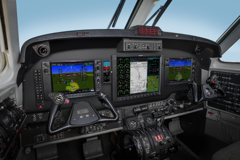 The G1000 NXi integrated flight deck allows owners and operators to maximize the King Air 300 and 350 aircrafts. (Photo: Business Wire)