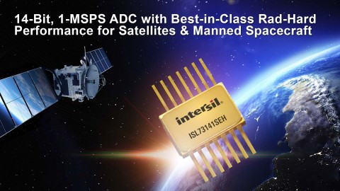 14-bit, 1-MSPS ADC with best-in-class rad-hard performance for satellites & manned spacecraft (Graphic: Business Wire)