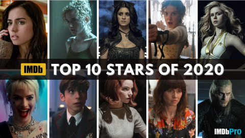 IMDb Top Stars of 2020, as determined by page views. IMDb is the #1 movie website in the world. (Photo courtesy of IMDb)