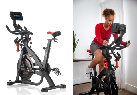 The Bowflex® C7 indoor bike takes the popular Bowflex C6 bike to the next level with an integrated 7'' high-definition (HD) touch screen with access to the JRNY® digital fitness service for a personalized, immersive workout. (Photo: Business Wire)