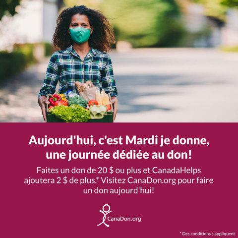 CanaDon presse les Canadiens de donner généreusement en ce Mardi je donne (Photo: Business Wire)