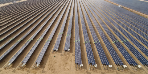 Ecoppia's fully autonomous cleaning robots in Bhadla Solar park- one of the largest solar parks in the world. (Photo: Business Wire)
