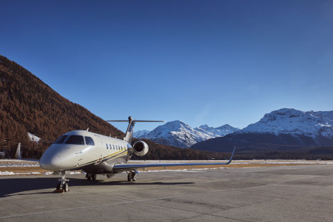 Flexjet Embraer Praetor 600 super midsized aircraft part of the European-based Flexjet fleet. (Photo: Business Wire)