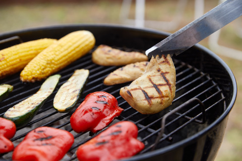 GOOD Meat Cultured Chicken on a grill (Photo: Business Wire)