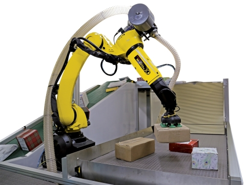 The new flexible fulfillment solution incorporates a FANUC robot and Plus One's AI-powered PickOne perception system (Photo: Business Wire)
