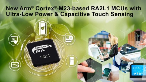 New Arm Cortex-M23-based RA2L1 MCUs with ultra-low power & capacitive touch sensing (Graphic: Business Wire)