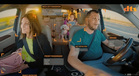DTS AutoSense: World's First Occupant Monitoring Solution Designed into 2021 Vehicles (Photo: Business Wire)