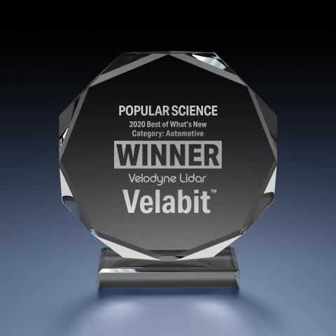 Velodyne Lidar's Velabit™ sensor was named a winner in the Best of What's New awards by Popular Science. (Photo: Velodyne Lidar, Inc.)