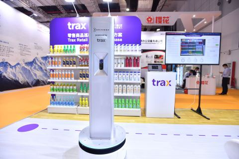 Trax's all-new autonomous shelf-monitoring robot for the China market recently made its debut at the 22nd China Retail Trade Fair (ChinaShop) in Shanghai (Photo: Business Wire)