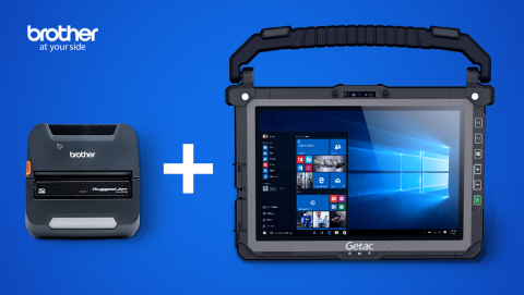 Brother's field-ready printer and accessory bundles will be paired with Getac's devices including laptops and tablets. (Photo: Brother Mobile Solutions)