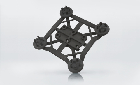 A single-piece lightweight grip system with integrated functionality, 3D printed with PA 2200. (Photo: Business Wire)