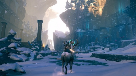 Wield the powers of the gods to battle powerful enemies and solve ancient puzzles in Immortals Fenyx Rising. (Photo: Business Wire)