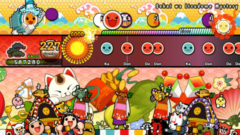 Use drumming skills to save the world, as you join Don-chan in the Taiko no Tatsujin: Rhythmic Adventure Pack. (Photo: Business Wire)