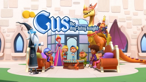 """Mattel, Inc. announced that it has entered into a multi-year global licensing agreement with PGS Entertainment, for the upcoming animated preschool series, produced and owned by Technicolor Animation Productions, """"Gus – The Itsy Bitsy Knight."""" (Graphic: Business Wire)"""