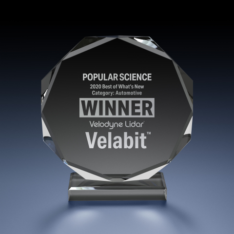 Velodyne Lidar's Velabit™ sensor was named a winner in the Best of What's New awards by Popular Science. (Photo: Velodyne Lidar, Inc.)