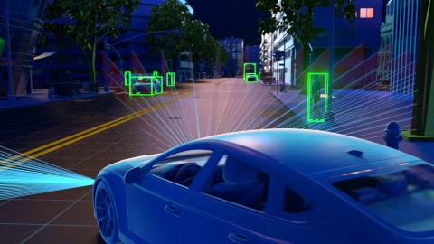 Velodyne Lidar's Velabit™ sensor can enable robust perception coverage. It is engineered to be an optimal automotive grade lidar solution for Advanced Driver Assistance Systems (ADAS) and autonomous vehicles. (Photo: Velodyne Lidar, Inc.)