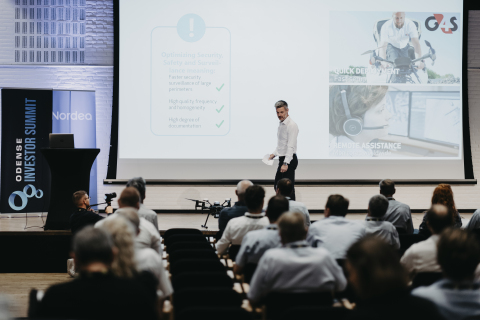 The virtual Odense Investor Summit has already attracted 250 participants, including 100 investors from Denmark and abroad. Last year's summit (seen above) featured pitches from numerous European robotics startups. (Photo: Business Wire)