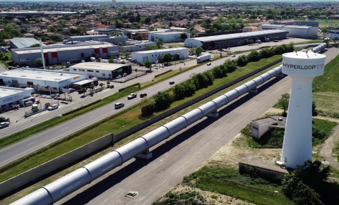 HyperloopTT's full-scale test system in Toulouse, France (Photo: Business Wire)