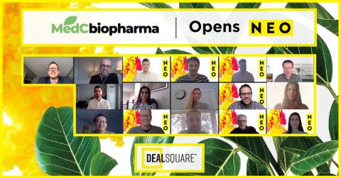 """MedC Biopharma Corporation (""""MedC""""), une société axée sur la science et spécialisée dans le développement, la production et la fourniture mondiale de médicaments innovants en oncologie cutanée, participe à un marché numérique ouvert pour célébrer le lancement de son offre de placement privé sur DealSquare. (Photo : Business Wire)"""