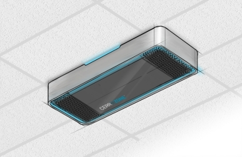 CerroZone™ wall/ceiling mounted unit for indoor air purification (Graphic: Business Wire)