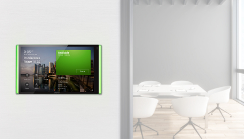 Crestron 70 Series Scheduling Panels integrated with Microsoft Teams (Photo: Business Wire)