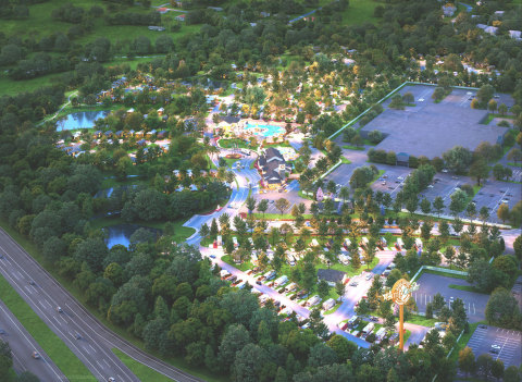 Kings Island Camp Cedar, a year-round, luxury outdoor resort, will open spring 2021 as the official lodging destination for Kings Island Amusement Park in Mason, Oh. Photo Credit: Kings Island Camp Cedar