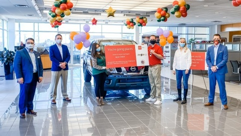 Wells Fargo, Benson Nissan of Easley and Military Warriors Support Foundation sponsored a vehicle donation to former U.S. Marine Corps Sergeant Jesse Odom and his family. (Photo: Wells Fargo)