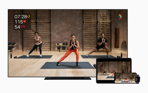 Apple Fitness+, the first fitness service built around Apple Watch, launches Monday, December 14. (Photo: Business Wire)