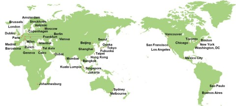 Global Power City Index (GPCI) 2020 - Target Cities (Graphic: Business Wire)