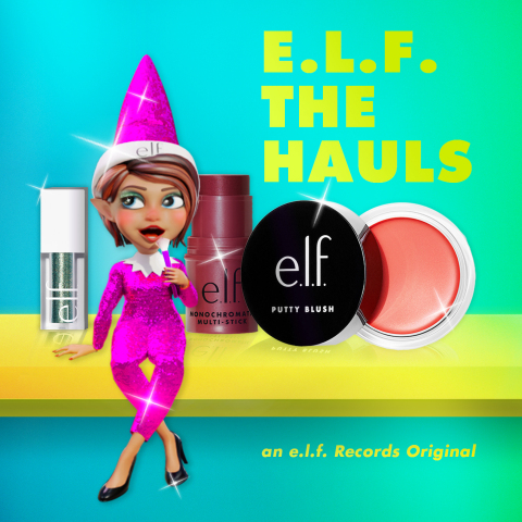 e.l.f. Cosmetics' holiday album 'e.l.f. the Hauls' is now available for download via Spotify and Apple Music. (Photo: Business Wire)