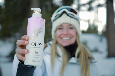 Cold weather doesn't have to be synonymous with dry, flaky skin. Olay Body partnered with professional snowboarder and 2X Olympic gold medalist, Jamie Anderson, to celebrate the journeys of fearless women that brave the harshest winter conditions every day. Source: Olay Body