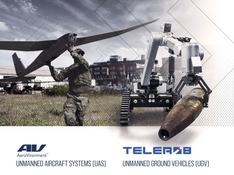 AeroVironment Acquires Telerob, a Leader in Ground Robotic Solutions, to Expand Multi-Domain Unmanned Systems Offering and Global Presence (Graphic: Business Wire)